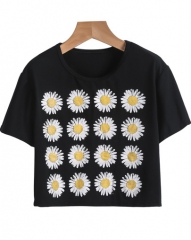 Sunflowers cropped tshirt at She Inside