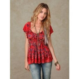 Sunkissed Babydoll Top at Free People