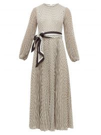 Sunray pleated polka-dot chiffon dress at Matches