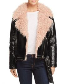 Sunset  amp  Spring Sunset   Spring Faux Fur-Collar Moto Jacket - 100  Exclusive  Women - Bloomingdale s at Bloomingdales