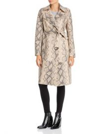 Sunset  amp  Spring Sunset   Spring Snake Print Faux-Leather Trench Coat - 100  Exclusive  Women - Bloomingdale s at Bloomingdales