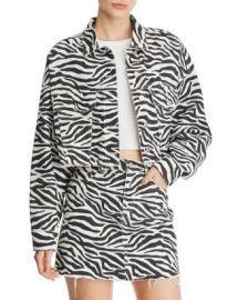 Sunset  amp  Spring Sunset   Spring Zebra Print Cropped Denim Jacket - 100  Exclusive  Women - Bloomingdale s at Bloomingdales