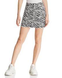 Sunset  amp  Spring Sunset   Spring Zebra Print Denim Mini Skirt - 100  Exclusive  Women - Bloomingdale s at Bloomingdales