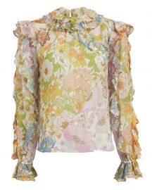 Super 8 Ruffle Floral Print Cotton by Zimmermann at Intermix