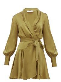 Super Eight Silk Wrap Mini Dress by Zimmermann at Matches