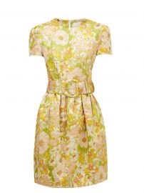 Super Eight belted floral-brocade mini dress at Matches