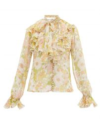 Super Eight ruffled pussy-bow silk blouse at Matches