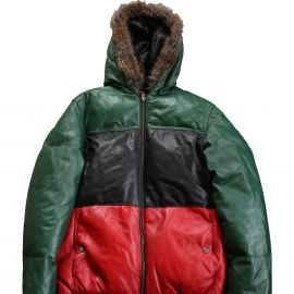 Supreme 'Gucci' Leather Down Jacket at Grailed