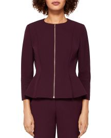 Suria Peplum Zip Front Jacket by Ted Baker at Bloomingdales