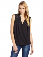 Surplus leather trim top by Eight Sixty at Amazon