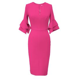 Susan Dress Pink Crepe by by Mellaris at Wolf and Badger