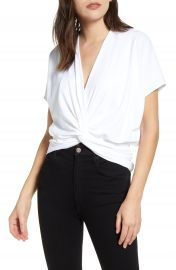 Susana Monaco Twist Front Short Sleeve Top   Nordstrom at Nordstrom