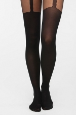 Suspender tights at Urban Outfitters at Urban Outfitters