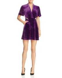 Suzan Embellished Velvet Mini Dress by Sandro at Bloomingdales