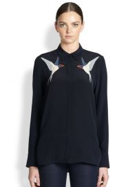 Swallow Embroidered Shirt by Stella McCartney at Stella McCartney