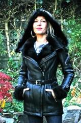 Swan Shearling Jacket at Ocean Drive