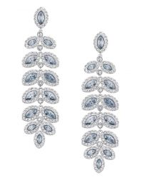 Swarovski Baron Silvertone and Pale Blue Crystal Drop Earrings at Lord & Taylor