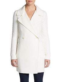 Sweater sleeve coat by Vince at Saks Off 5th