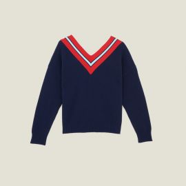 Sweater with Contrasting Stripes by Sandro at Sandro