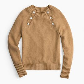 Sweater with Jeweled Buttons at J. Crew
