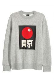 Sweatshirt with Motif at H&M