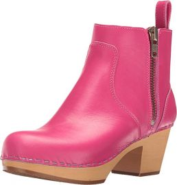 Swedish Hasbeens Women s Zip IT Emy Ankle boot Pink at Amazon