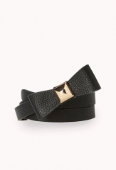 Sweet Faux Leather Bow Belt at Forever 21