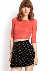 Sweet Lace Crop Top at Forever 21