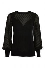 Sweetheart Chiffon Hybrid Sweater at Topshop