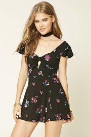 Sweetheart Floral Romper at Forever 21