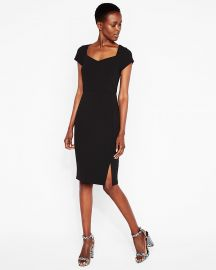 Sweetheart midi sheath at Express