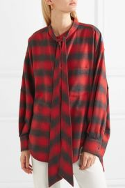 Swing oversized printed checked cotton-flannel shirt at Net A Porter