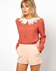 Swing top with crochet collar at Asos