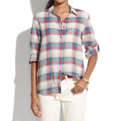 Swingset Plaid Boyshirt at Madewell