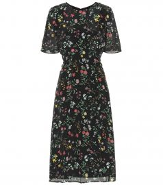 Sylvia floral silk midi dress at Mytheresa