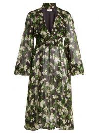 Syris floral-print silk chiffon dress at Matches