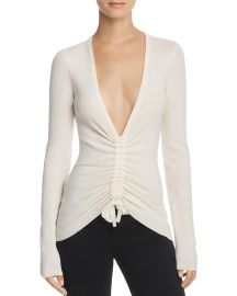 T by Alexander Wang Ruched Wool Top at Bloomingdales