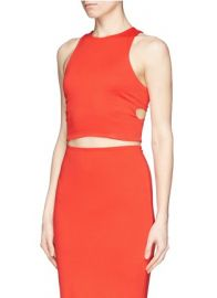 T By Alexander Bandeau Interior Ponte Knit Cropped Top at Lane Crawford