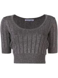 T By Alexander Wang Cropped Ribbed Knit Top - Farfetch at Farfetch
