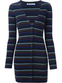T By Alexander Wang Striped Fitted Cardigan  - Papini at Farfetch