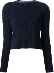 T By Alexander Wang Zipped Neck Knit Sweater - Petra Teufel at Farfetch