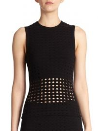 T by Alexander Wang - Perforated Tank at Saks Fifth Avenue