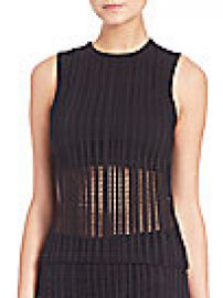 T by Alexander Wang - Stretch Cotton Jacquard Jersey Tank Top at Saks Fifth Avenue