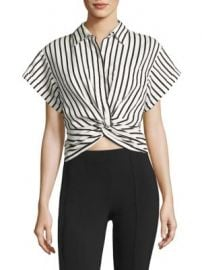T by Alexander Wang - T by Twisted Front Striped Shirt at Saks Fifth Avenue