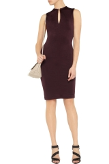 T by Alexander Wang Burgundy Stretch Dress at The Outnet