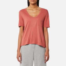 T by Alexander Wang Cropped Tee w/ Chest Pocket  at Coggles