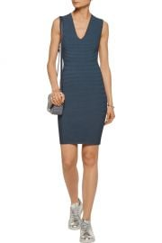 T by Alexander Wang Cutout ribbed-knit mini dress at The Outnet