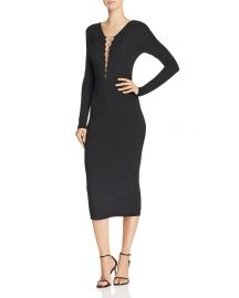 T by Alexander Wang Lace-Up Jersey Dress  at Bloomingdales