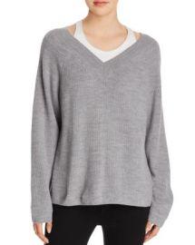 T by Alexander Wang Layered V-Neck Sweater at Bloomingdales