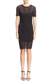 T by Alexander Wang Mesh Overlay Sheath Dress at Nordstrom